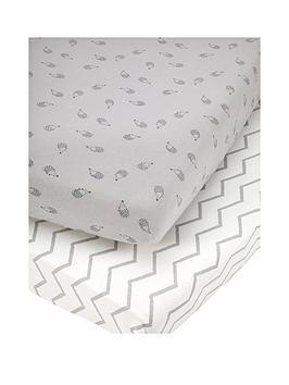 mamas-papas-mamas-amp-papas-pk-2-cot-bed-fitted-sheets-grey