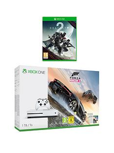 xbox-one-s-1tb-console-with-forza-horizon-3-and-destiny-2-plus-optional-extra-controller-andor-12-months-xbox-live-gold