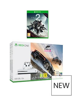 xbox-one-s-500gb-console-with-forza-horizon-3-and-destiny-2-plus-optional-extra-controller-and-12-months-xbox-live