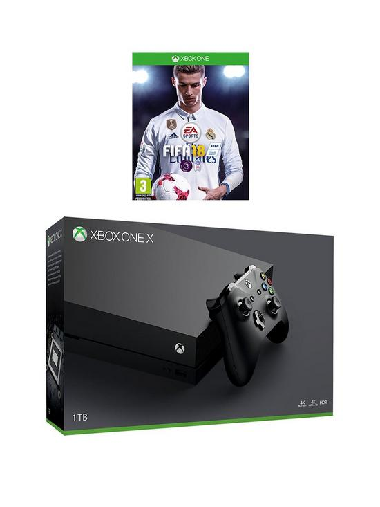 Image result for xbox one x with fifa 18 bundle