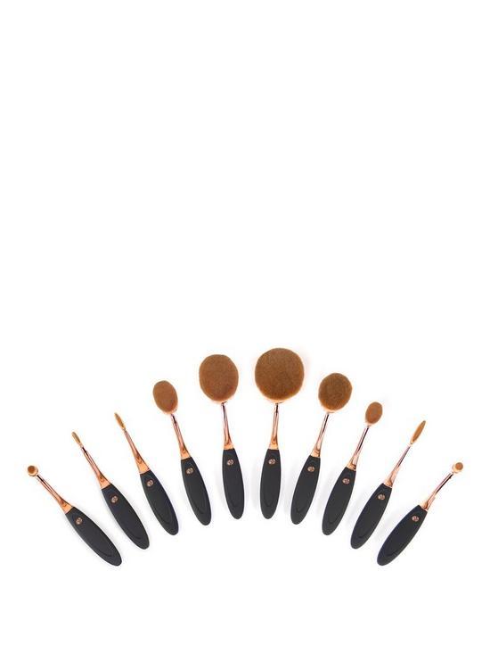 Rio Rio Professional Microfibre Oval Makeup Brush Collection