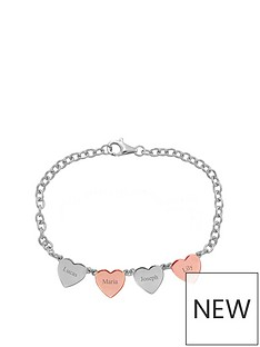keepsafe-sterling-silver-personalised-4-heart-bracelet