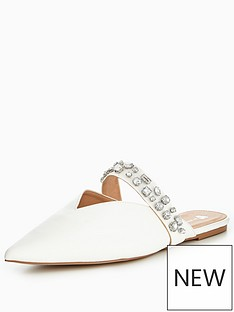 v-by-very-harmony-embellished-pointed-flat-mule-white