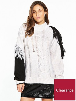 v-by-very-fringe-colourblock-jumper