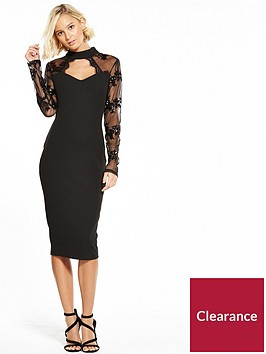 ax-paris-keyhole-sequin-lace-sleeve-bodycon-dress-black