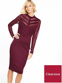 ax-paris-cage-top-bodycon-dress-plum