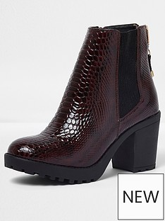 river-island-river-island-ikra-zip-up-chunky-croc-ankle-boot
