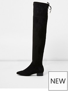 river-island-river-island-ripple-over-the-knee-flat-boot