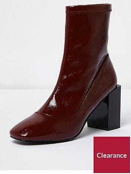 river-island-river-islandnbsppatent-square-toe-boot--burgundy