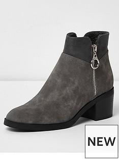 river-island-river-island-zip-block-heel-ankle-boot--grey