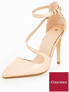 c6b7b98164ef V by Very Sylvia Asymmetric Heeled Shoe - Nude Rose Gold