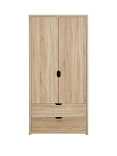 Aspen 2 Door, 2 Drawer Wardrobe