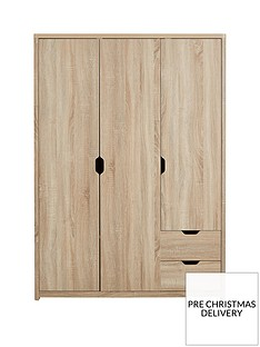 Aspen 3 Door, 2 Drawer Wardrobe