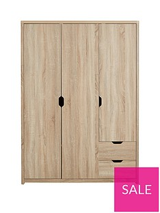 Aspen 3 Door, 2 Drawer Wardrobe
