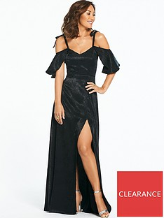 fa47719ab2 Myleene Klass Jacquard Ruched Side Maxi Dress
