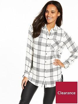 v-by-very-oversize-tie-waist-check-shirt-mono