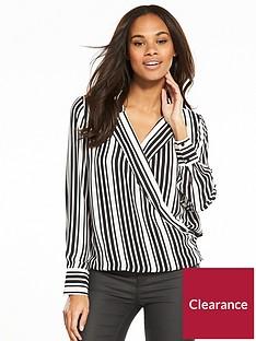 v-by-very-stripe-wrap-blouse