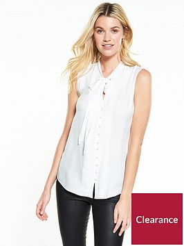 v-by-very-sleeveless-tie-neck-blouse