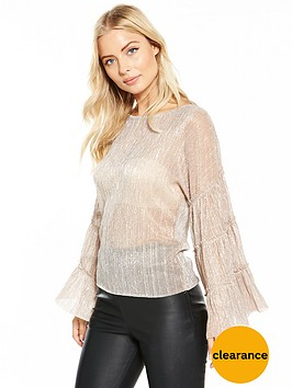 v-by-very-metallic-statement-sleeve-top