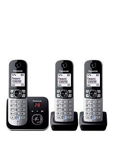 panasonic-kx-tg6823eb-cordless-phone-with-answering-machine-triple-handsets