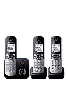 panasonic-kx-tg6823eb-cordless-phone-with-answering-machine-triple-handsets