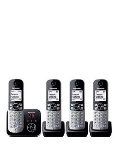 panasonic-kx-tg6824eb-cordless-phone-with-answering-machine-quad-handsets
