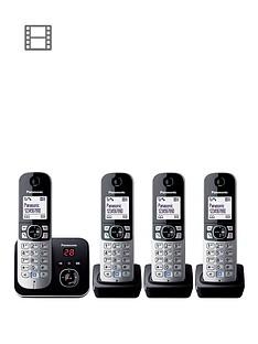 panasonic-kx-tg6824eb-cordless-phone-with-answering-machine-quad-handsets