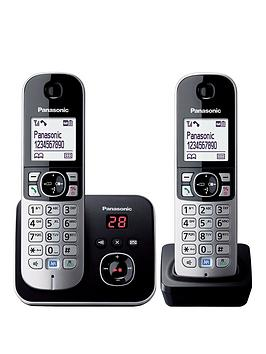 panasonic-kx-tg6822eb-cordless-phone-with-answering-machine-twin-handsets