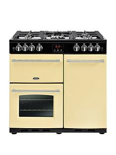 belling-belling-farmhouse-90g-90cm-gas-range-cooker-cream-with-connection