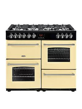 Belling Farmhouse 100Dft 100Cm Dual Fuel Range Cooker - Cream Best Price, Cheapest Prices