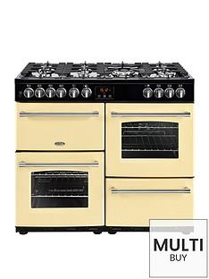 belling-farmhouse-100dft-100cm-dual-fuel-range-cooker-cream-with-connection