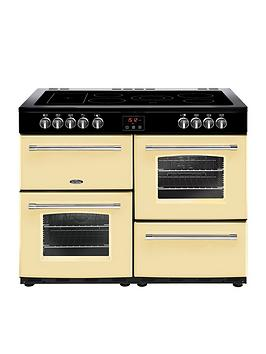 Belling 100E Farmhouse 100Cm Electric Ceramic Range Cooker - Cream Best Price, Cheapest Prices