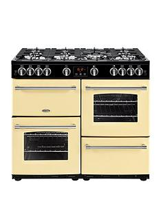 Belling 100G Farmhouse 100cm Gas Range Cooker - Cream