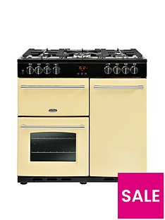 Belling Farmhouse 90DFT 90cm Dual Fuel Range Cooker - Cream