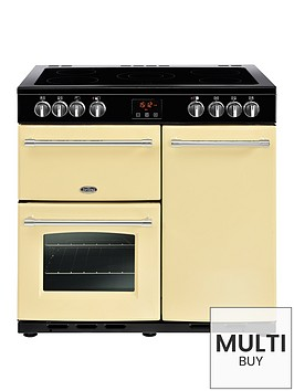 belling-farmhouse-90e-90cm-electric-ceramic-range-cooker-cream