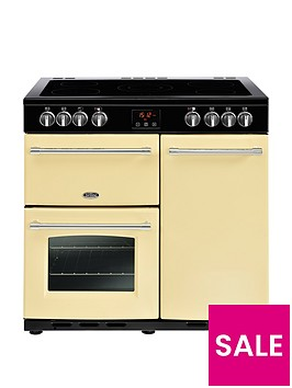 belling-farmhouse-90e-90cm-electric-ceramic-range-cooker-with-connection-cream