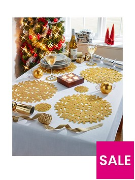 metallic-placemats-and-coasters-in-gold