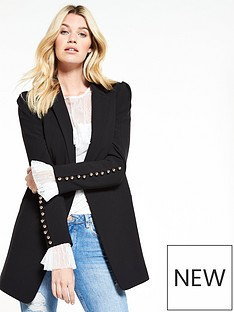 v-by-very-longline-button-cuff-jacket-black