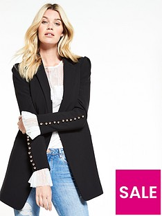 v-by-very-longline-button-cuff-jacket-black