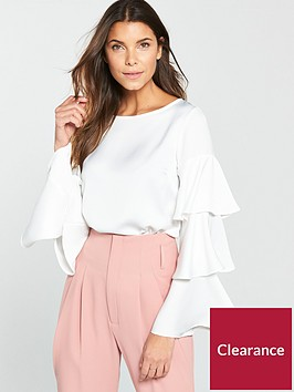 v-by-very-tiered-sleeve-top-whitenbsp