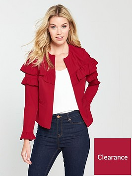 v-by-very-frill-jacket-red