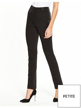 v-by-very-petite-ponte-slim-leg-trouser-black