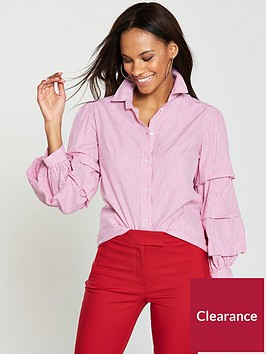 v-by-very-volume-sleeve-stripe-shirt-pink-stripe