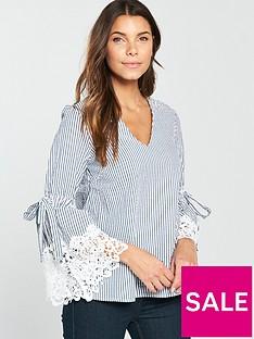 v-by-very-lace-sleeve-detail-stripe-top-stripe