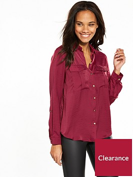 v-by-very-utility-shirt-oxblood