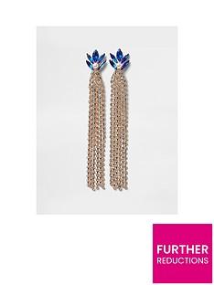 river-island-sapphire-stud-drop-earrings