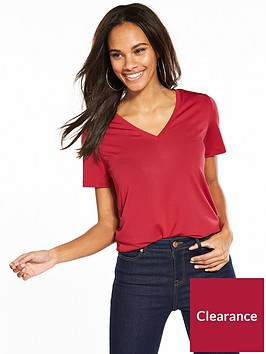 v-by-very-v-neck-cupro-t-shirt-red