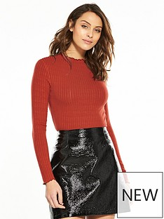 v-by-very-ribbed-long-sleeve-top-rust