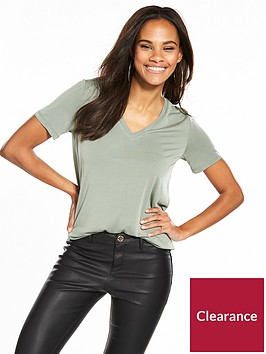 v-by-very-v-neck-cupro-t-shirt-sage