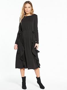 v-by-very-bow-waist-midi-dress-black
